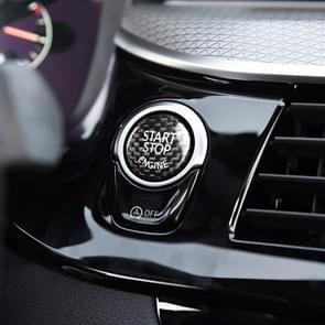 Car Engine Start Key Push Button Cover Trim Carbon Fiber Sticker Decoration for BMW F / G Chassis