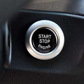 Car Engine Start Key Push Button Cover for BMW G / F Chassis,  without Start and Stop (Black)
