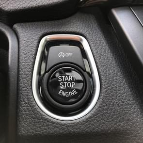 Car Engine Start Key Push Button Cover for BMW G / F Chassis,  with Start and Stop (Black)