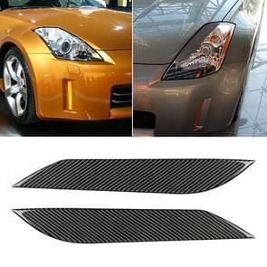 Auto Carbon Fiber Light wenkbrauw voor 2003-2009 Nissan 350Z alle modellen
