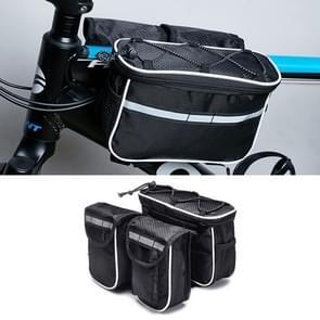 Fiets telefoon tassen Mountain Road fiets voorste hoofd tas Stuur tas (zwart)