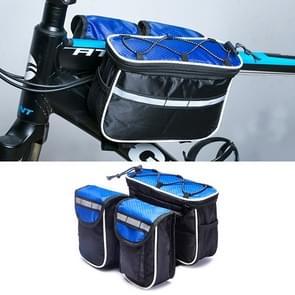 Fiets telefoon tassen Mountain Road fiets front hoofd tas Stuur tas (blauw)