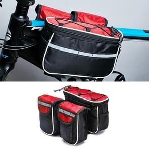Fiets telefoon tassen Mountain Road fiets voorste hoofd tas Stuur tas (rood)