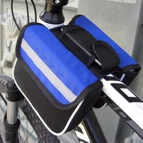 Bicycle Phone Bags Mountain Road Bike Front Head Bag Saddle Bag (Blue)