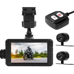 SE100 3 inches HD 1080P Video Motorcycle DVR, Support TF Card /  WiFi / GPS / Loop Recording, with Remote Control