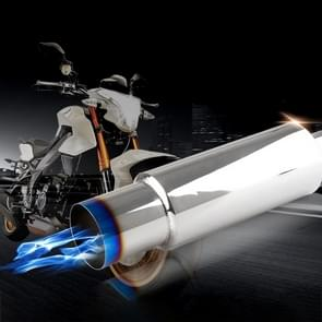 Universal Car / Motorcycles Styling Stainless Steel Exhaust Pipe Spitfire Blue Light Decoration Flaming Muffler Tail Muffler Tip Pipe
