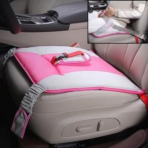 Auto Safety Seat Protective Pad met Clip Back Abdominal Belt voor zwangere vrouw (Roze)