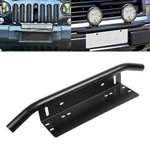 Universele auto kentekenplaat kunststof beugel frame houder stand mount (zwart)