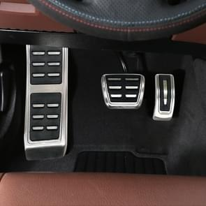 3 in 1 Non-Slip Manual Gear Car Pedals Foot Brake Pad Cover Set for Porsche Macan 2019