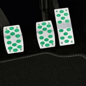 3 in 1 grote lichtgevende anti-slip automatische versnelling auto pedalen voetrem pad cover set