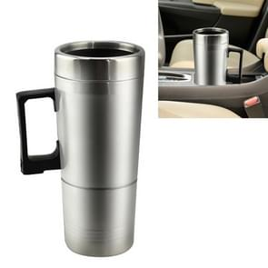 DC 12V Stainless Steel Car Electric Kettle Heated Mug Heating Cup with Charger Cigarette Lighter, Capacity: 300ML