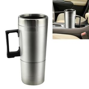 DC 24V Stainless Steel Car Electric Kettle Heated Mug Heating Cup with Charger Cigarette Lighter, Capacity: 300ML