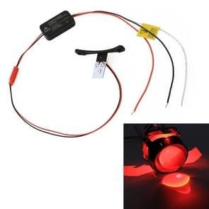 W2 DC9-16V/0.6 W duivel oog met SMD-5050 lamp kralen voor auto 2 5 inch HID projector lens (rood)