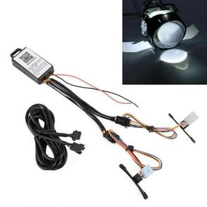 2 stuks W2 DC9-16V/0.6 W duivel oog met SMD-3030 lamp kralen voor auto 2 5 inch HID projector lens  ondersteuning APP controle