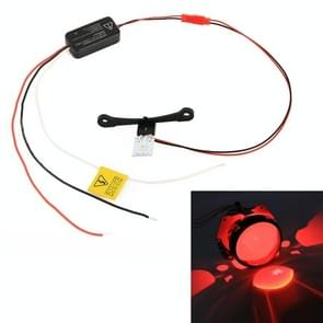 H1 DC9-16V/0.6 W duivel oog met SMD-5050 lamp kralen voor auto 3 0 inch HID projector lens (rood)