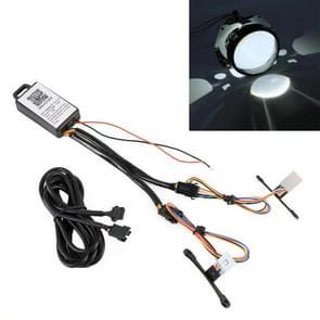 2 stuks H1 DC9-16V/0.6 W duivel oog met SMD-3030 lamp kralen voor auto 3 0 inch HID projector lens  ondersteuning APP controle
