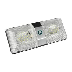 D4376D DC11-18V 6W 6000-6500K IP50 48LEDs SMD-5050 Marine RV Dimmable LED Dome Light Ceiling Lamp, with Touch Control