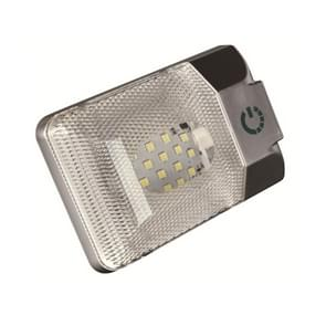 D4376S DC11-18V 3.6W 6000-6500K IP50 24LEDs SMD-5050 Marine RV Dimmable LED Dome Light Ceiling Lamp, with Touch Control