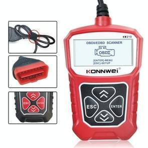 KONNWEI KW310 OBD Car Fault Detector Code Reader ELM327 OBD2 Scanner Diagnostic Tool(Rood)