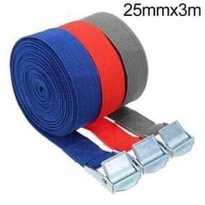 Auto Span rope bagageband Auto Auto Boot vaste band met lichtmetalen gesp  willekeurige kleur levering  grootte: 25mm x 3m