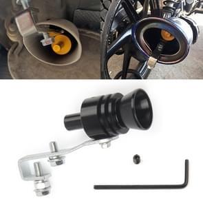 Universal Aluminum Turbo Sound Exhaust Muffler Pipe Whistle Car / Motorcycle Simulator Whistler, Size: L, Outside Diameter: 30mm(Black)