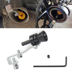 Universal Aluminum Turbo Sound Exhaust Muffler Pipe Whistle Car / Motorcycle Simulator Whistler, Size: M, Outside Diameter: 23mm(Black)