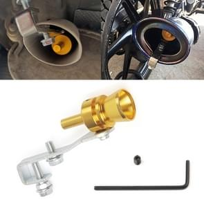 Universal Aluminum Turbo Sound Exhaust Muffler Pipe Whistle Car / Motorcycle Simulator Whistler, Size: M, Outside Diameter: 23mm(Gold)