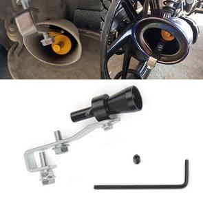 Universal Aluminum Turbo Sound Exhaust Muffler Pipe Whistle Car / Motorcycle Simulator Whistler, Size: S, Outside Diameter: 20mm(Black)
