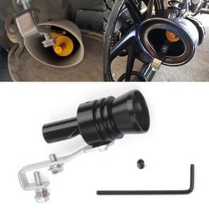 Universal Aluminum Turbo Sound Exhaust Muffler Pipe Whistle Car / Motorcycle Simulator Whistler, Size: XL, Outside Diameter: 35mm(Black)