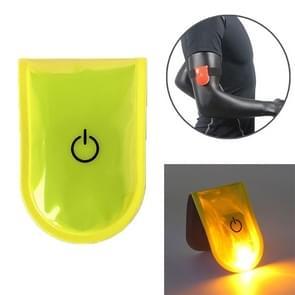 2 PCS Outdoor Night Running Veiligheidswaarschuwing Licht LED verlichte magneetclip licht (geel)