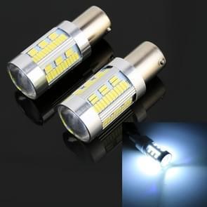 2 stks 1156/BA15S DC12-24V 21W auto turn Light 105LEDs SMD-4014 lampen  met decoder (wit licht)