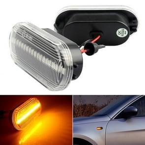 2 PCS D12V / 5W Auto LED Leaf Board Side Flowing Water Turn Signal Light voor Volkswagen (Transparant)