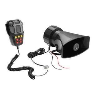 HW-1006B 12V 100W 125dB auto elektrische alarm Luchthoorn sirene speaker 5 Sound Tone Super luid met Mic
