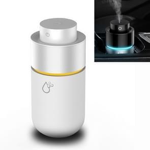 Auto mini luchtbevochtiger Luchtzuiveraar Luchtbevochtiger USB aromatherapie Deodorization (wit)