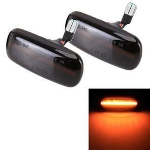 2 PCS D12V / 3W Auto LED Dynamic Blinker Side Lights Flowing Water Turn Signal Light voor Audi  Geel Licht