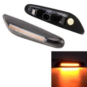 2 PCS D12V / 5W Auto LED Dynamic Blinker Side Lights Flowing Water Turn Signal Light voor BMW  Geel Licht