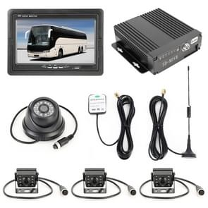 Vrachtwagen 360 graden real-time monitoring 4 CH SD real-time miljoen pixels SD mobiele DVR  ondersteuning SD-kaart/link met mobiele telefoon  met monitor/GPS/antenne
