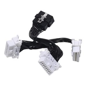 3 in 1 Car OBD Diagnostic Extended Cable OBD2 Cable voor Toyota