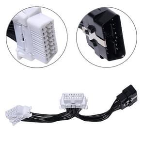2 op de 1 16PIN Car OBD Diagnostic Extended Cable OBD2 Cable