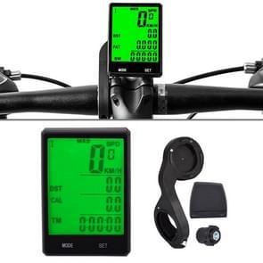 2.8 duim Engelse Draadloze Waterdichte Cyclus Computer LCD Snelheidsmeter Snelheidsmeter met UitbreidingsHouder