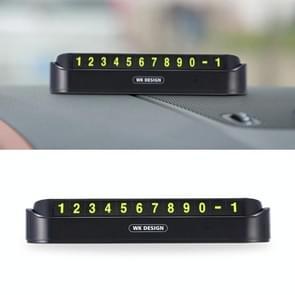 WK WT-SP05 Soft Magnetic No Glue Lichtgevende digitale tijdelijke parkeerkaart autosticker (zwart)