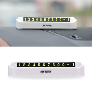 WK WT-SP05 Soft Magnetic No Glue Lichtgevende digitale tijdelijke parkeerkaart Auto Sticker (Wit)