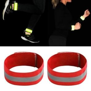 Reflecterende Band Outdoor Sports Running Cycling Night Warning Wrist Band (Rood)