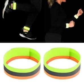 Reflecterende band Outdoor Sports Running Cycling Night Warning Wrist Band (Geel+Oranje)
