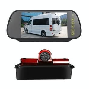 PZ467 Auto Waterdicht 170 Graden Rem Licht View Camera + 7 inch Achteruitkijkmonitor voor Chevrolet