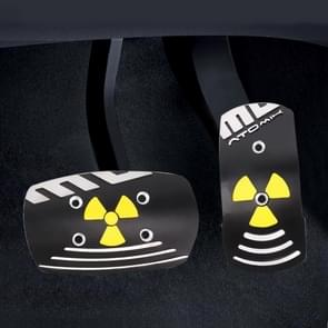 MOMO 2 in 1 Universal Aluminum Alloy Automatic Transmission Car Pedals Pads