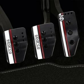 Sparco 3 in 1 Universal Aluminum Alloy Car Safety Manual Brake Pedals Pads(Black)