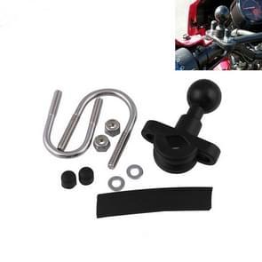 CHM005-BK Roestvrijstalen U-vorm Stuur Rail Montage Bal Joint Fixed Base Motorcycle Modification Accessoires (Zwart)