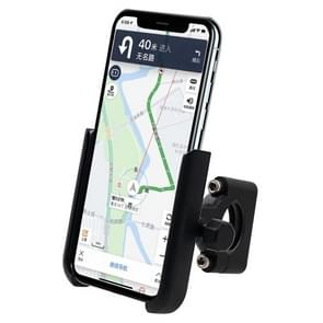 Motorcycle Aluminium Alloy Mobile Phone Holder Bracket, Handlebar Version(Black)