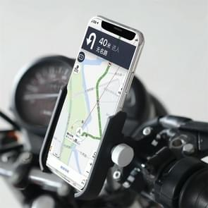 Motorcycle Aluminium Alloy Pressure Casting Mobile Phone Holder Bracket, Handlebar Version (Black)